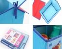 Короб Домик - органайзер для игрушек и вещей голубой фото 6