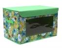 Короб-кофр с окошком, крышка на липучке для детских игрушек, вещей фото 1
