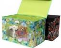 Короб-кофр с окошком, крышка на липучке для детских игрушек, вещей фото