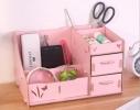 Комод настольный для косметики, украшений, фурнитуры Розовый фото 1