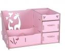 Комод настольный для косметики, украшений, фурнитуры Розовый фото 2