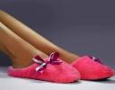 Тапочки комнатные Розовые с атласной ленточкой фото 2