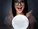 Настольный светильник 3D MOON LAMP Месяц 15 см фото 3