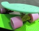 Скейт Penny board колеса ПУ светящиеся фото 1