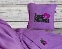 Набор подушка и плед с вышивкой Best Mama! Фиолетовый фото