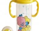 Бутылочка Карапуз с ручками и погремушкой 250 мл фото