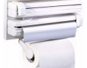 Кухонный держатель Triple Paper Dispenser - диспенсер для бумажных полотенец, пищевой пленки и фольги фото 1