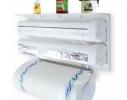 Кухонный держатель Triple Paper Dispenser - диспенсер для бумажных полотенец, пищевой пленки и фольги фото 2