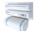 Кухонный держатель Triple Paper Dispenser - диспенсер для бумажных полотенец, пищевой пленки и фольги фото
