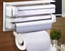 Кухонный держатель Triple Paper Dispenser - диспенсер для бумажных полотенец, пищевой пленки и фольги фото 3