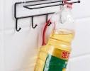 Держатель с крючками для бумажных полотенец, пищевой пленки, чашек фото 3