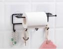 Держатель с крючками для бумажных полотенец, пищевой пленки, чашек фото 4
