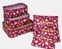 Клонировать Органайзеры дорожные набор 3+3 сумки Бордо в цветочек фото 1