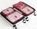 Клонировать Органайзеры дорожные набор 3+3 сумки Бордо в цветочек фото 2