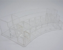Подставка - органайзер акриловый для косметики Закругленный на 15+3 ячеек фото 4