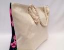 Пляжная сумка Черная с принтом Flamingo фото 2