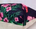 Пляжная сумка Черная с принтом Flamingo фото 1