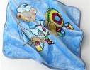 Плед детский с капюшоном Мишка моряк фото 3