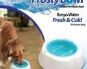 Охлаждающая миска для воды для домашних питомцев с охлаждающим гелем Frosty Bowl фото 5