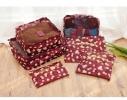 Клонировать Органайзеры дорожные набор 3+3 сумки Бордо в цветочек фото 3
