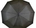 Мужской зонт полуавтомат Серебряный Дождь Черный фото 2