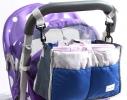Сумка на коляску для детских вещей и мелочей Синяя фото