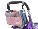 Сумка на коляску для детских вещей и мелочей Светло-розовая фото 1