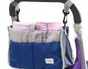 Сумка на коляску для детских вещей и мелочей Синяя фото 1
