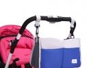 Сумка на коляску для детских вещей и мелочей Синяя фото 2