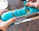 Бутылка для воды с органайзером для таблеток и витаминов голубая, 600мл фото 2