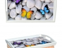 Поднос на подушке Бабочки фото 1