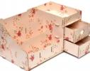 Комод настольный для косметики, украшений, фурнитуры Розовый в цветы фото