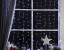 Гирлянда штора led 360 белая фото 2