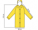 Плащ-дождевик на кнопках ПВХ желтый фото 2
