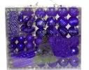 Набор новогодних шаров Фиолетовое Ассорти 50шт фото