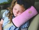 Подушка-накладка на ремень безопасности под голову Голубая фото 1