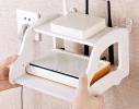 Полка подвесная Машинка для роутера, телефона Белая фото 3