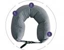Подушка - подголовник дорожная для сна и отдыха фото 2