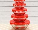 Набор кухонный контейнеры - миски стекляные с крышкой для продуктов фото 4