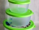 Набор пластиковых контейнеров с клапаном для хранения продуктов 4 шт. фото