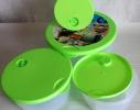 Набор пластиковых контейнеров с клапаном для хранения продуктов 4 шт. фото 1