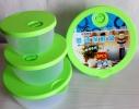Набор пластиковых контейнеров с клапаном для хранения продуктов 4 шт. фото 3