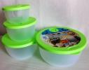 Набор пластиковых контейнеров с клапаном для хранения продуктов 4 шт. фото 6