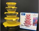 Набор кухонный контейнеры - миски стекляные с крышкой для продуктов фото 3