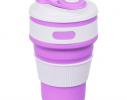 Чашка складная силиконовая Collapsible 5332 350мл, фиолетовая фото 1