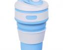 Чашка складная силиконовая Collapsible 5332 350мл, голубая фото 1