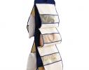Органайзер подвесной для хранения сумок на 5 ячеек Синий фото
