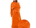 Плед с рукавами двухслойный флис Premium Оранжевый фото