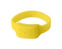 Силиконовый браслет от комаров MINI желтый фото