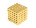 Магнитная игрушка головоломка Неокуб 216 кубов. Золото фото 1